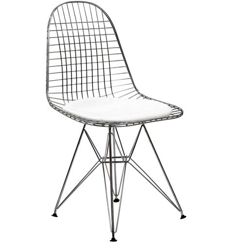 Tower Dining Chair in White