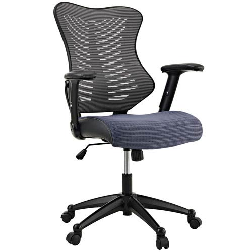 Modway Furniture Clutch Office Chair in Gray