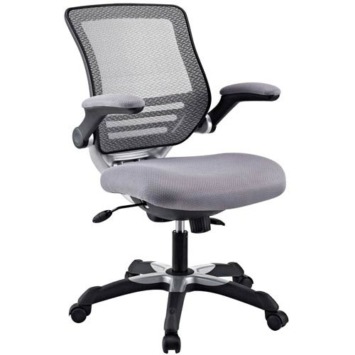 Modway Furniture Edge Office Chair in Gray