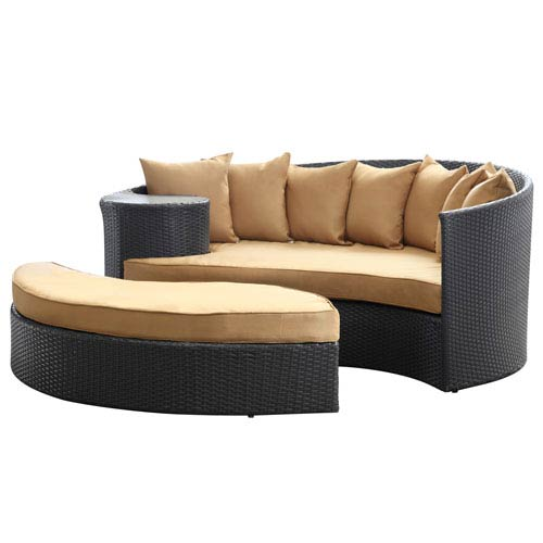 Modway Furniture Taiji Daybed in Espresso Mocha