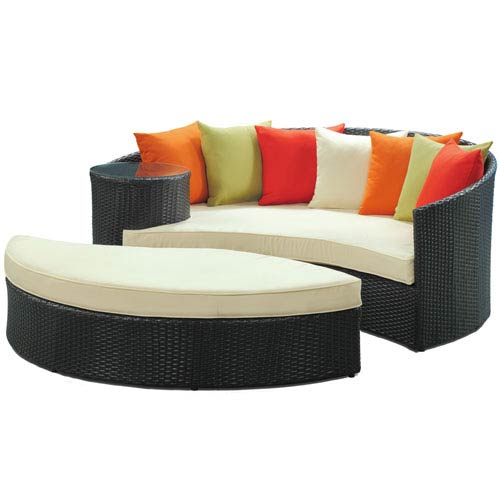 Modway Furniture Taiji Daybed in Espresso Multi-Colored