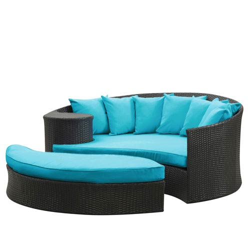 Taiji Daybed in Espresso Turquoise