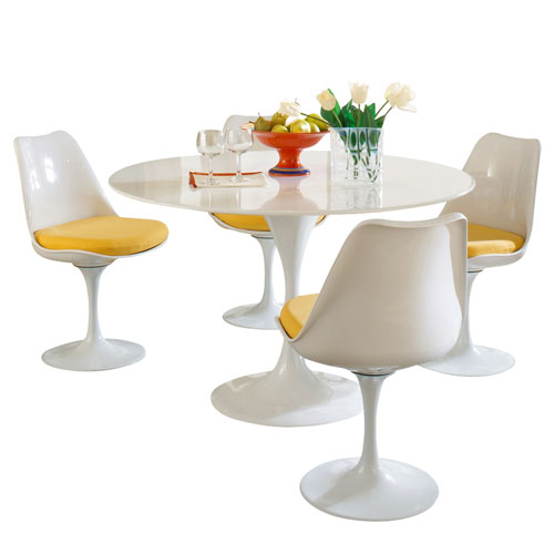 Modway Furniture Lippa Dining Set in Yellow