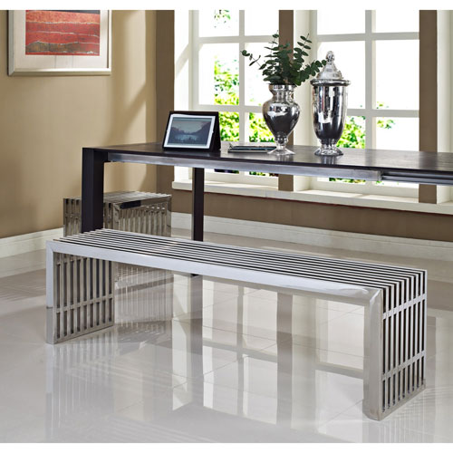Modway Furniture Gridiron Benches Set of Two