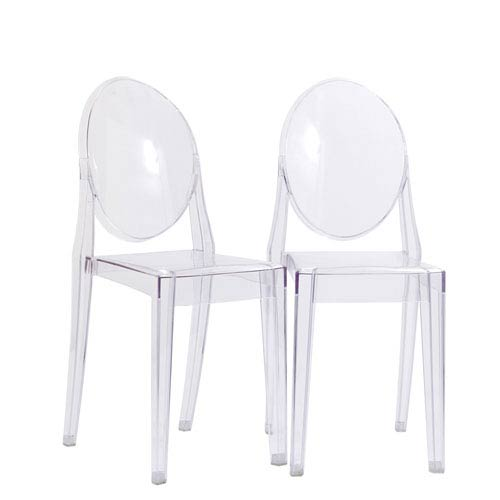 Casper Dining Chairs Set of Two in Clear