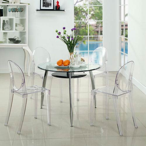 Casper Dining Chairs Set of Four in Clear