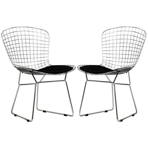 Modway Furniture CAD Dining Chairs Set of Two in Black