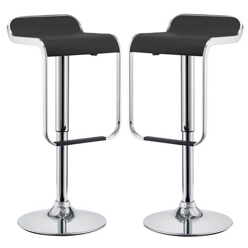 LEM Bar Stools Set of Two in Black