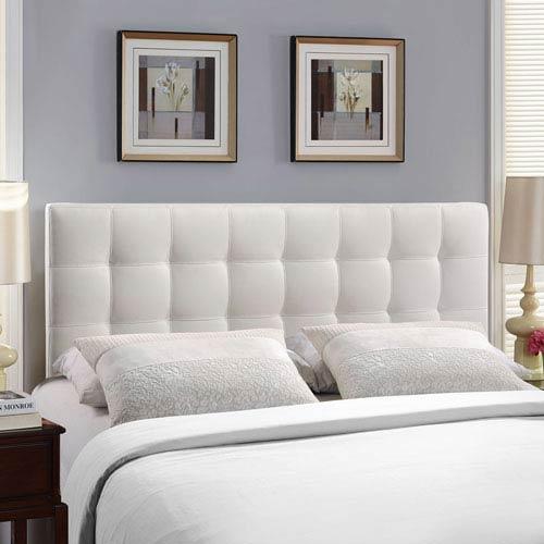 Modway Furniture Lily Queen Vinyl Headboard in White
