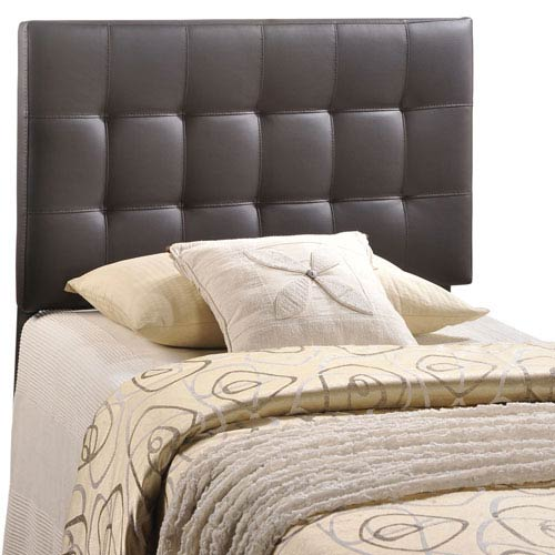 Modway Furniture Lily Twin Vinyl Headboard in Brown