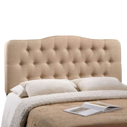 Modway Furniture Annabel Queen Fabric Headboard in Beige
