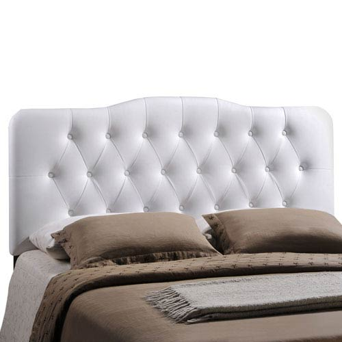 Modway Furniture Annabel Queen Vinyl Headboard in White