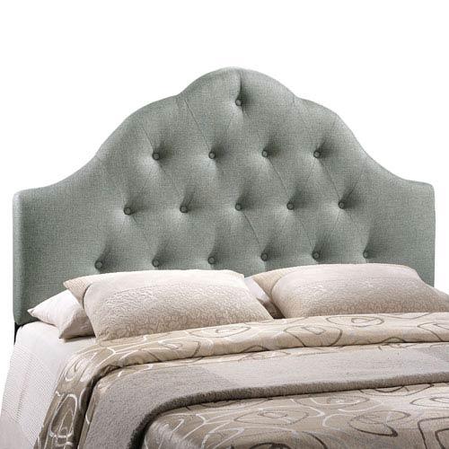 Sovereign Queen Fabric Headboard in Gray