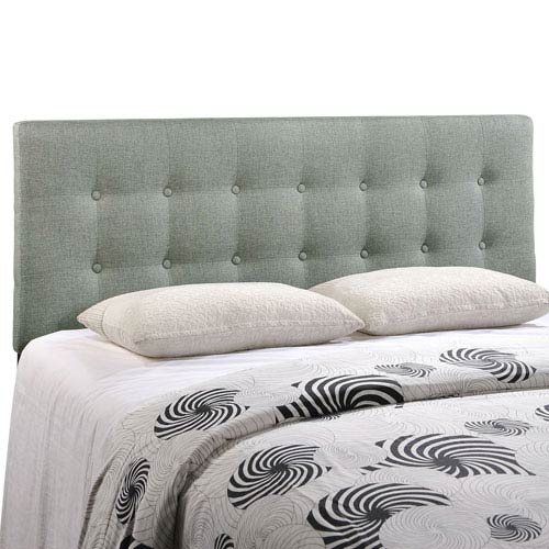 Modway Furniture Emily Queen Fabric Headboard in Gray