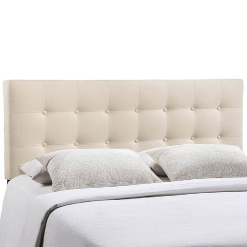 Emily King Fabric Headboard in Ivory