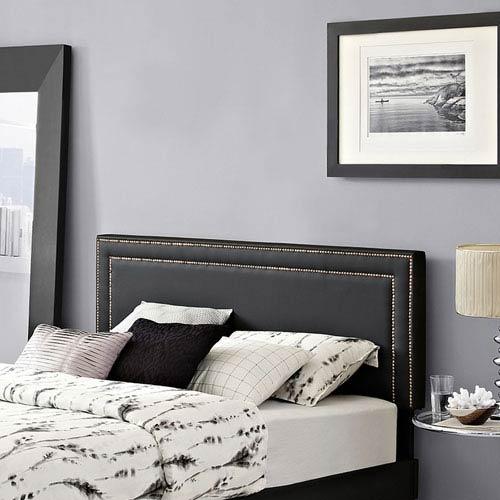 Modway Furniture Jessamine Queen Vinyl Headboard in Black