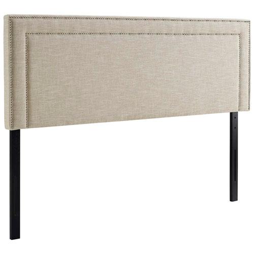 Jessamine King Upholstered Fabric Headboard