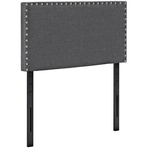Modway Furniture Phoebe Twin Fabric Headboard in Gray