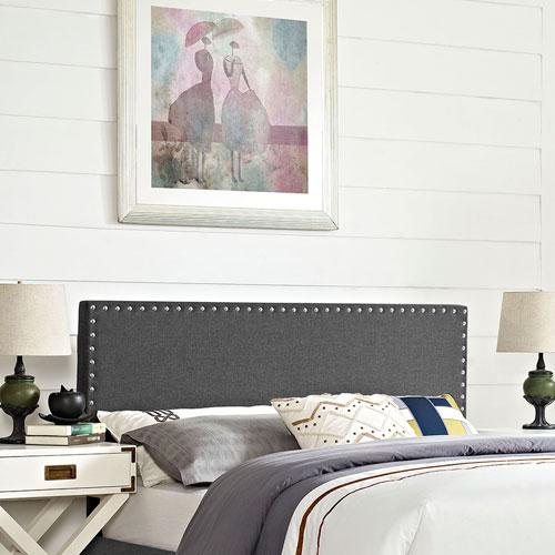Modway Furniture Phoebe Full Fabric Headboard in Gray