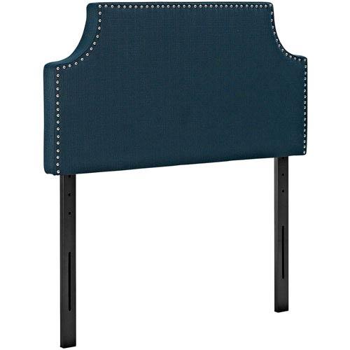 Modway Furniture Laura Twin Fabric Headboard in Azure