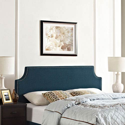 Modway Furniture Laura Full Fabric Headboard in Azure