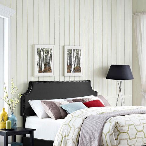 Modway Furniture Laura King Vinyl Headboard in Black