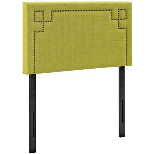 Modway Furniture Josie Twin Fabric Headboard in Wheatgrass