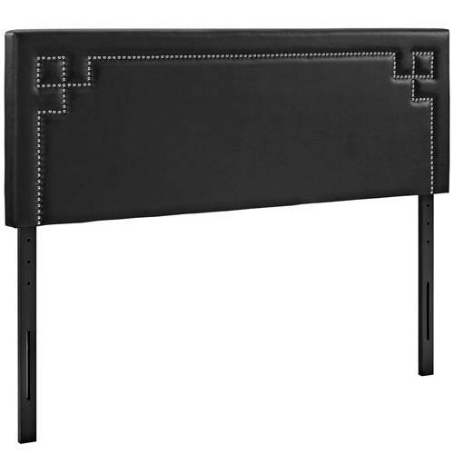 Modway Furniture Josie Queen Vinyl Headboard in Black