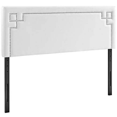 Josie Queen Vinyl Headboard in White