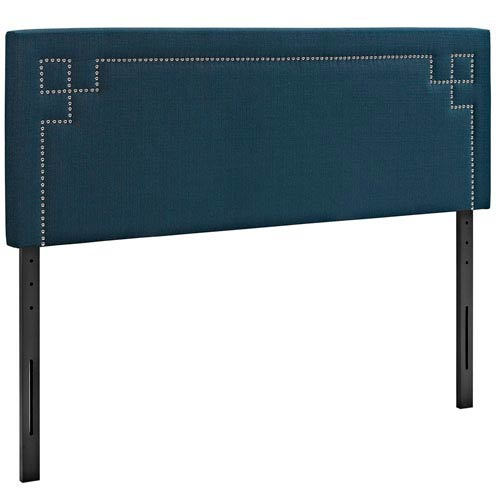 Josie Queen Fabric Headboard in Azure