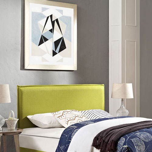 Camille Full Fabric Headboard in Wheatgrass