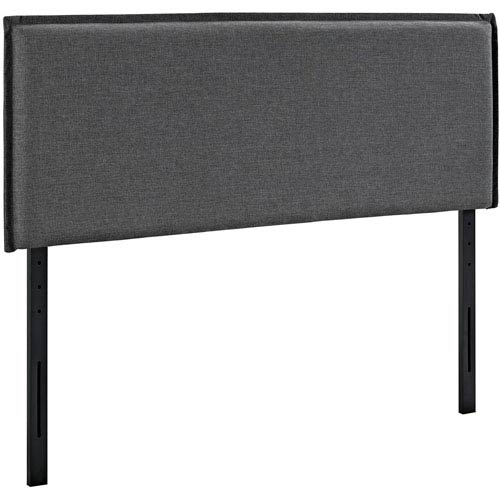 Modway Furniture Camille Queen Fabric Headboard in Gray