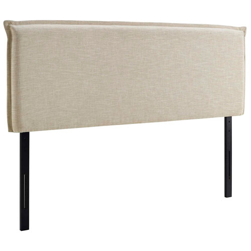 Camille King Upholstered Fabric Headboard