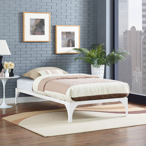 Ollie Twin Bed Frame in White