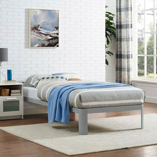Modway Furniture Corinne Twin Bed Frame in Gray