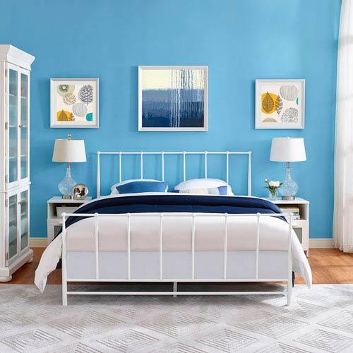 Estate King Bed in White