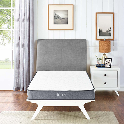 Kate 6 Inch Twin Mattress in White