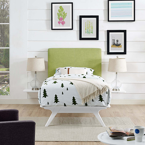 Tracy 3 Piece Twin Bedroom Set in White Green