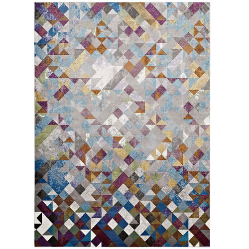 Modway Furniture Lavendula Triangle Mosaic 8x10 Area Rug