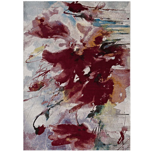 Modway Furniture Blume Abstract Floral 4x6 Area Rug