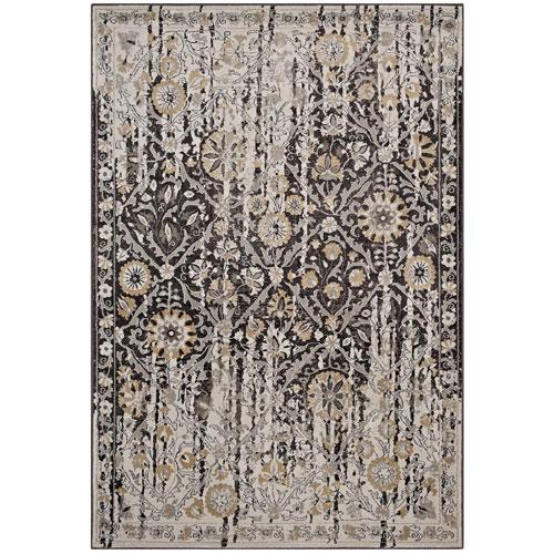 Modway Furniture Ganesa Distressed Diamond Floral Lattice 5x8 Area Rug