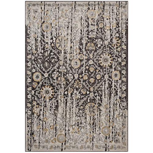 Ganesa Distressed Diamond Floral Lattice 8x10 Area Rug