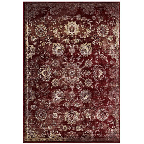 Cynara Distressed Floral Persian Medallion 8x10 Area Rug