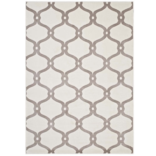 Beltara Chain Link Transitional Trellis 8x10 Area Rug