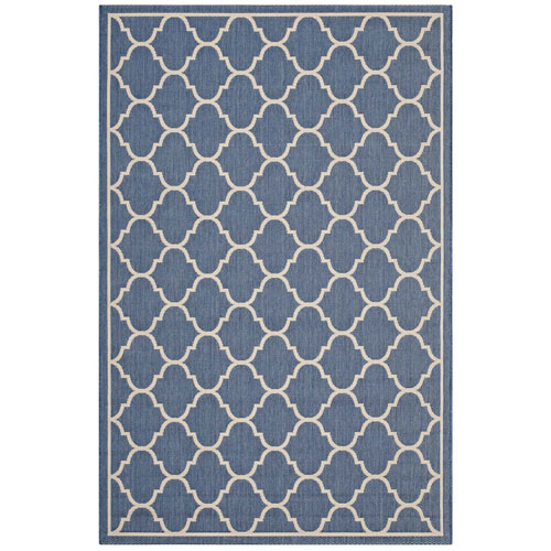 Modway Furniture Avena Moroccan Quatrefoil Trellis 8x10 Indoor and Outdoor Area Rug