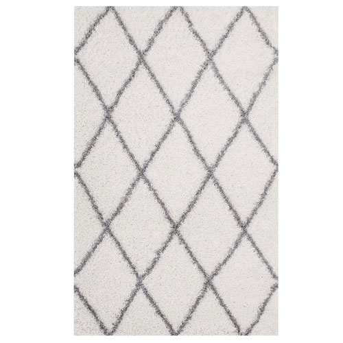 Toryn Diamond Lattice 5x8 Shag Area Rug