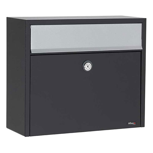 Allux Series LT150 Wall Mounted Locking Mailbox with Gray Flap