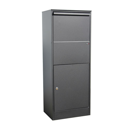 Allux Series 800 Black Large Locking Parcel Box