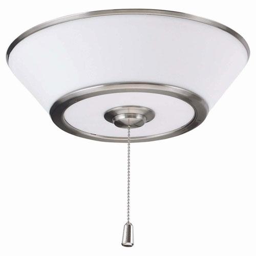 Brushed Steel Euclid LED Ceiling Fan Light Fixture