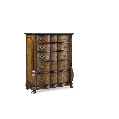 Continental Weathered Nutmeg Drawer Chest